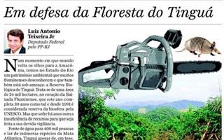 Em defesa da floresta do Tinguá – O Dia