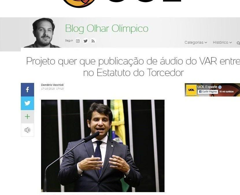 UOL – Projeto quer que publicação de áudio do VAR entre no Estatuto do Torcedor