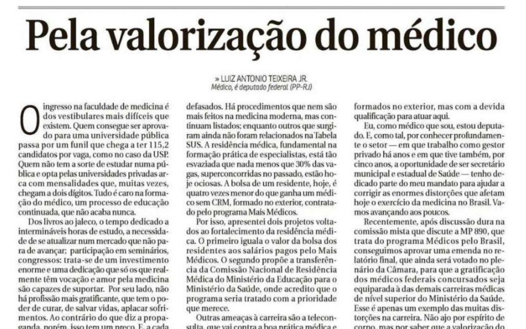 Pela Valorização do Médico – Correio Braziliense