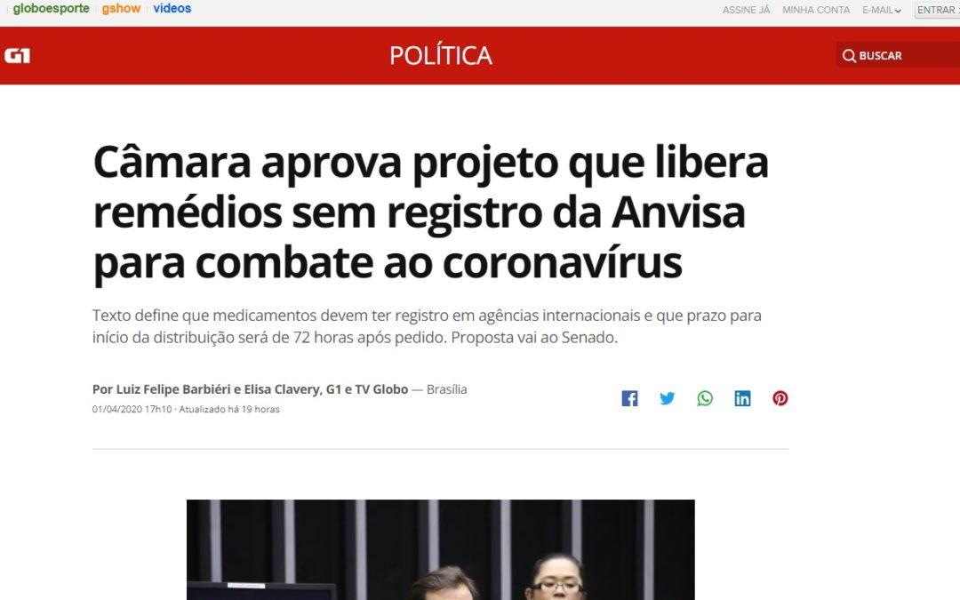 Câmara aprova projeto que libera remédios sem registro da Anvisa para combate ao coronavírus