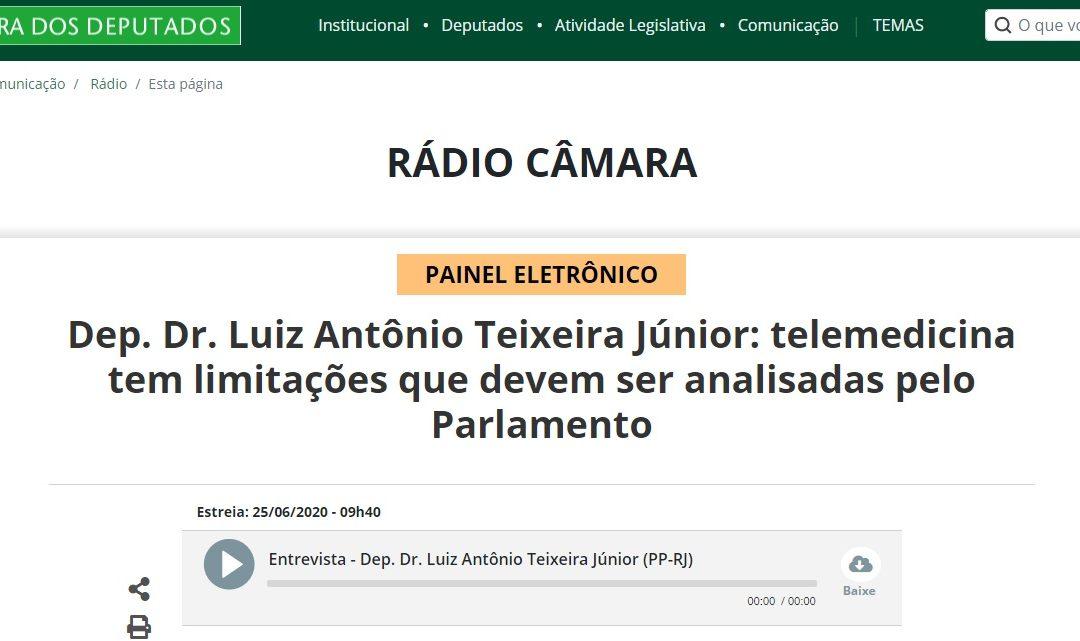 """""""Telemedicina tem limitações que devem ser analisadas pelo Parlamento"""""""