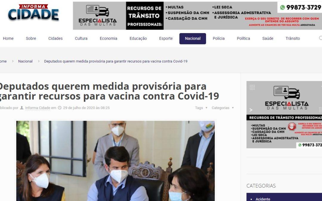 Deputados querem medida provisória para garantir recursos para vacina contra Covid-19