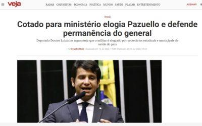 Cotado para ministério elogia Pazuello e defende permanência do general