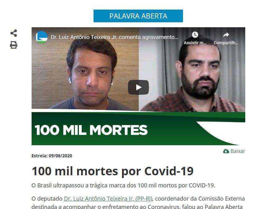 100 mil mortes por Covid-19