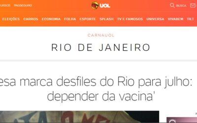 Liesa marca desfiles do Rio para julho: 'Vai depender da vacina'