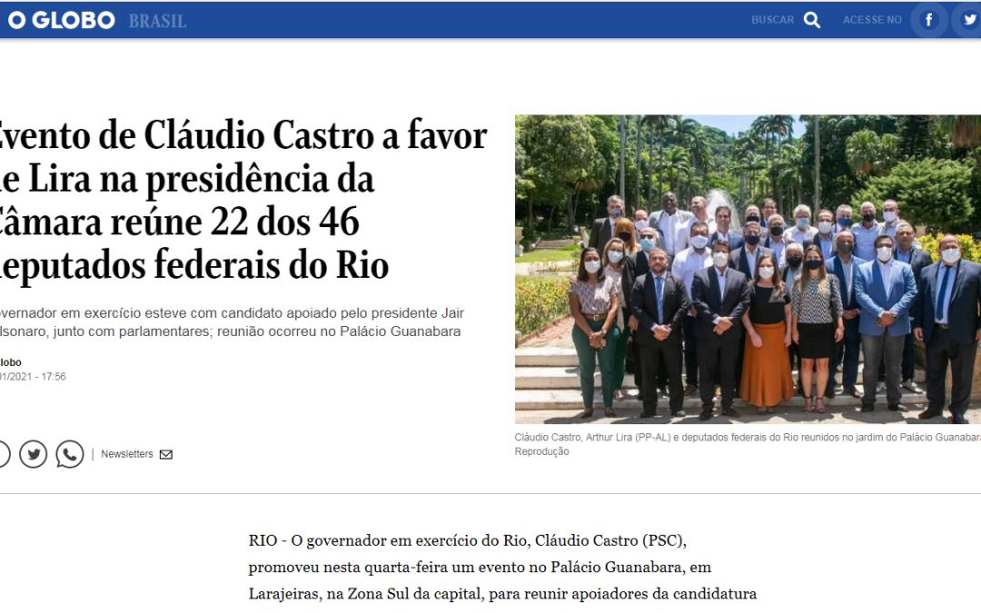 Evento de Cláudio Castro a favor de Lira na presidência da Câmara reúne 22 dos 46 deputados federais do Rio