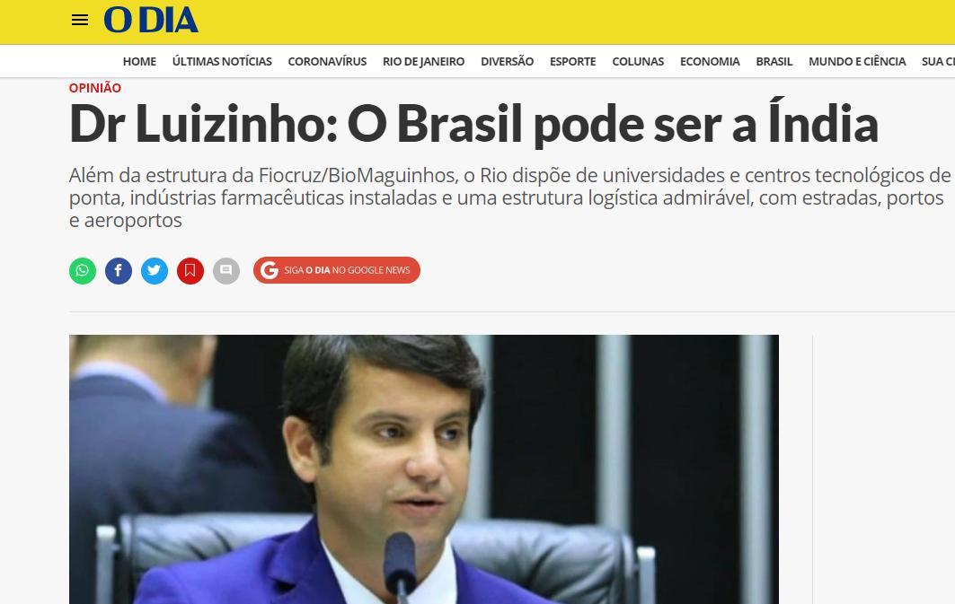 Dr Luizinho: O Brasil pode ser a Índia