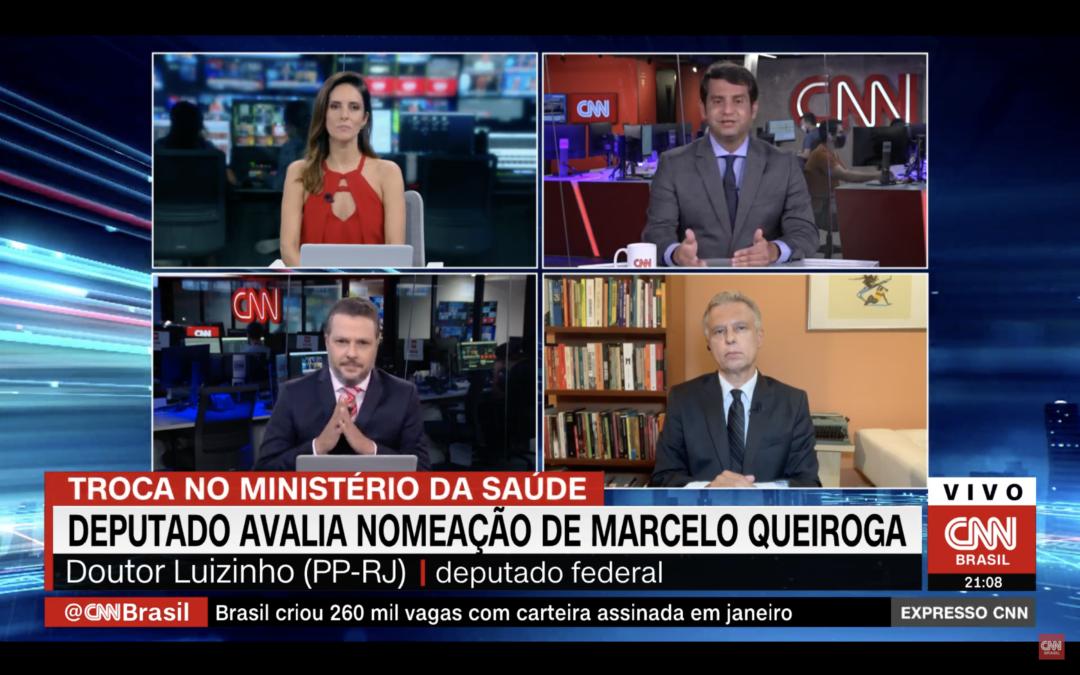 Deputado Dr. Luizinho comenta nomeação de novo ministro da Saúde – Expresso CNN