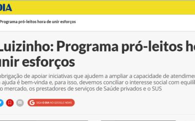 Dr. Luizinho: Programa pró-leitos hora de unir esforços