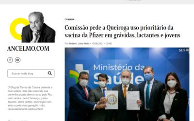Comissão pede a Queiroga uso prioritário da vacina da Pfizer em grávidas, lactantes e jovens