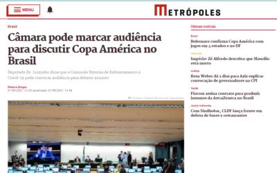 Câmara pode marcar audiência para discutir Copa América no Brasil